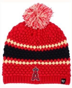 best service fca2b 65dcf  47 Brand Women s Los Angeles Angels Leslie Knit Hat - Red Adjustable.