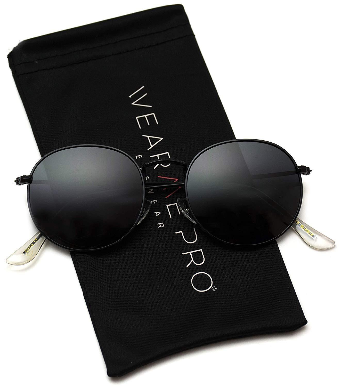 dd43469860c85 WearMe Pro - Reflective Lens Round Trendy Sunglasses in 2019 ...