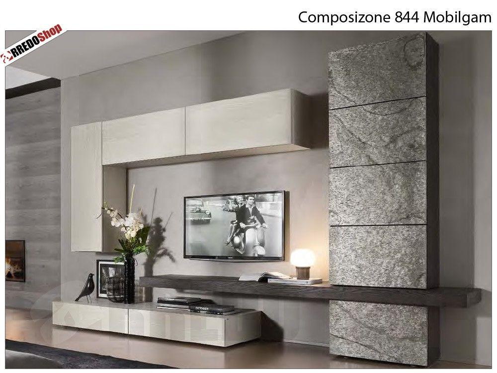 Composizione Soggiorno ~ Composizione mobilgam parete attrezzata tvs