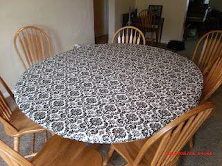 Somethin A Little Crafty Diy Tablecloth Vinyl Tablecloth