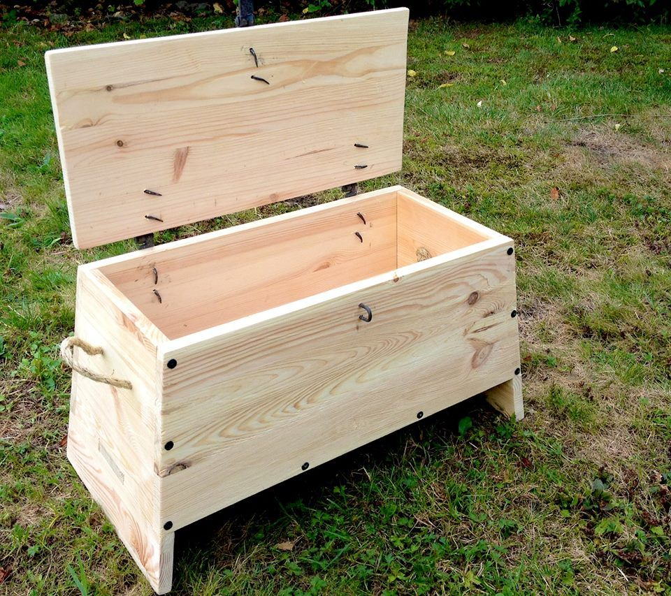 Viking Chest Made Of Pine L 53 Cm W 30 Medieval Furniture Viking Tent Wooden Boxes