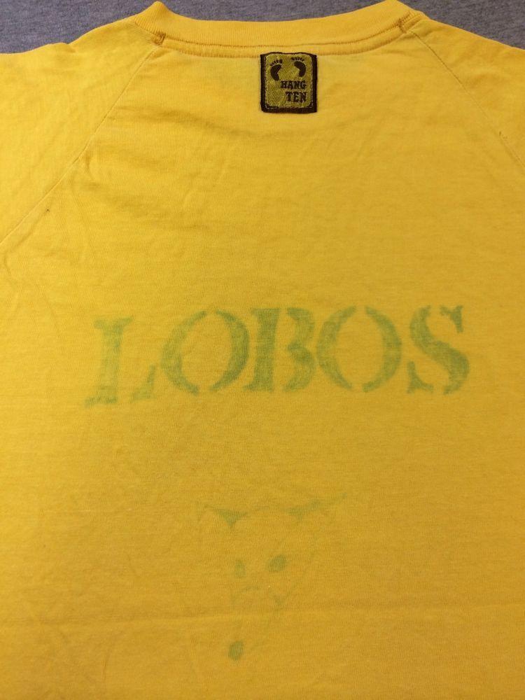 f541d53fa38c56 Vintage HANG TEN Shirt 60 s RARE! PAK-NIT LOBOS Ink Print Surf Skate Tshirt   HangTen  GraphicTee