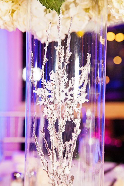 A Touch Of Frost Decor For A Winter Wonderland Wedding Reception