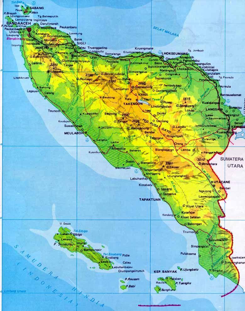 Aceh Map Tempat Liburan Dan Bali