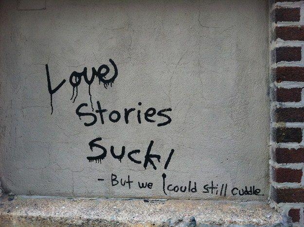 Graffiti conversation in SoHo