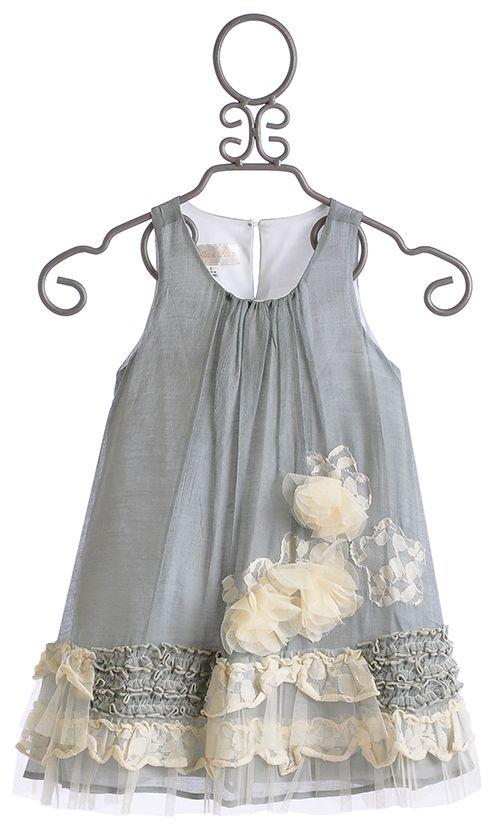 Isobella and Chloe Girls Vicky Grey A-Line Dress $58.00 | Confeccion ...