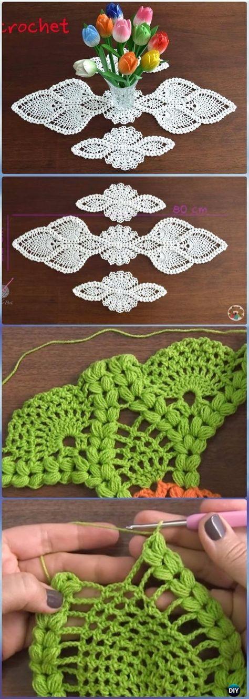 Crochet Table Runner Free Patterns Tutorials Crochet Table