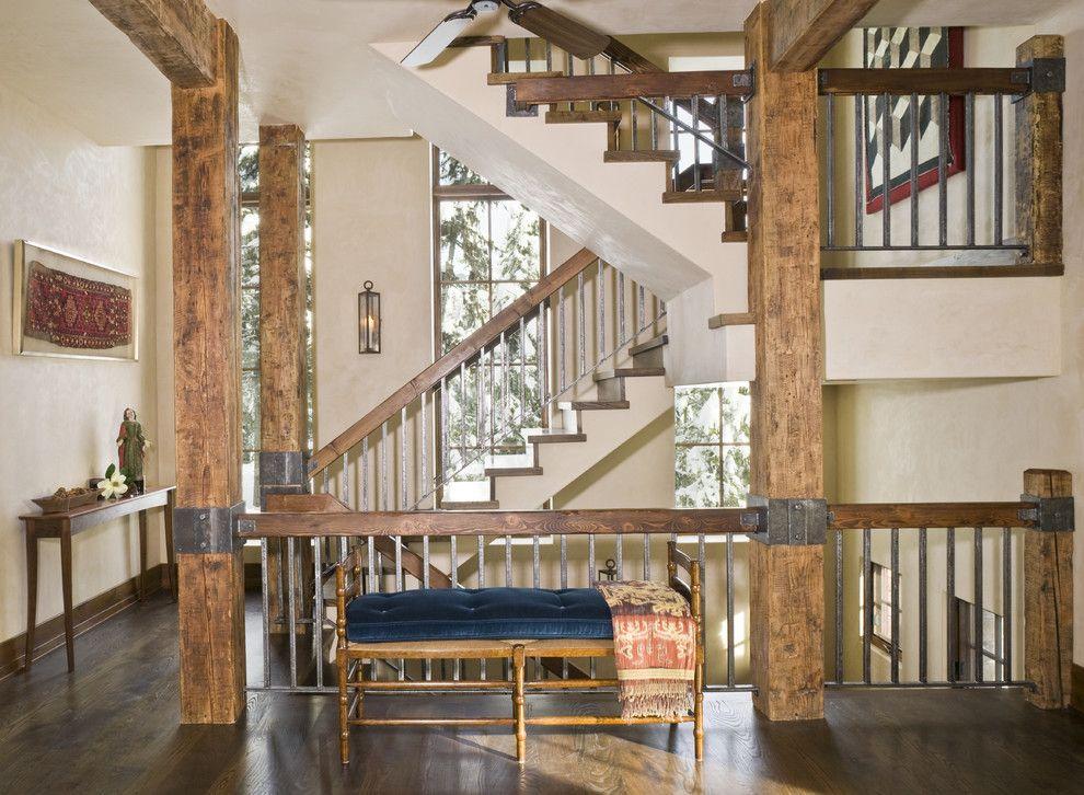 Image Result For Rustic Interior Railings Floorsstairswallsetc - Escaleras-rusticas-de-interior