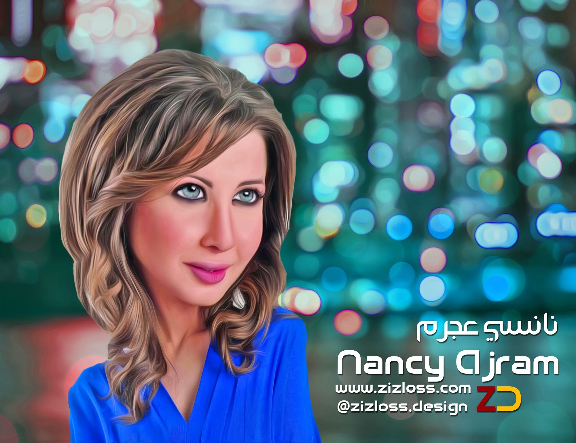 Nancy Ajram نانسي عجرم Www Zizloss Com Design Caricature Kuwait Make Your Own Caricature Caricature How To Make