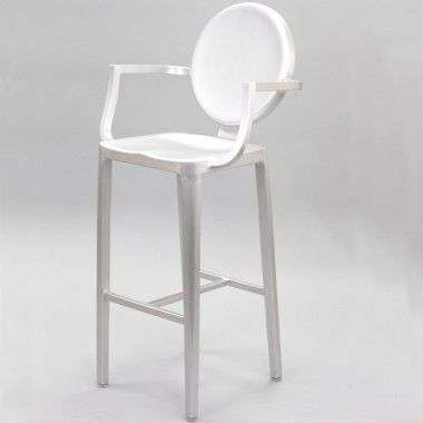 Philippe Starck Kong Bar Stool Silver Mid Century Modern Designer Furniture  Replicas And Reproductions