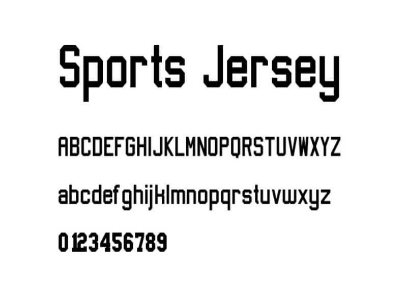 Sports Jersey Font Free Download With Images Jersey Font