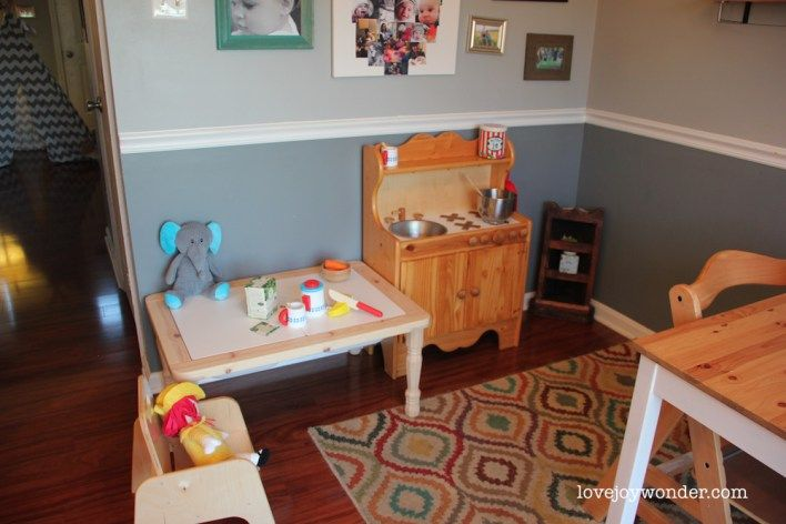 Montessori Rie And Reggio Inspired Toddler Wooden Play Kitchen By Little Colorado Ikea Weaning Table