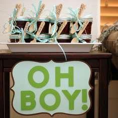 Un Nature Inspired Baby Shower - de bienvenida al bebé marrón y verde del Aqua