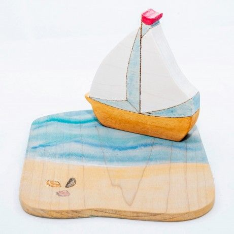 Boat with beach