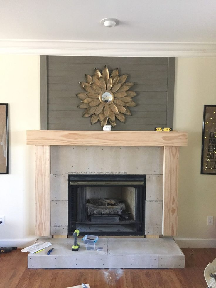 Modern Farmhouse Fireplace Mantel Wood Mantle
