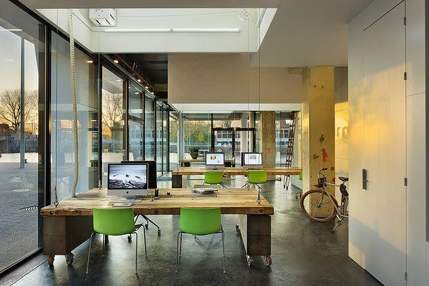Flexible office gallery space yoga studio great solution for