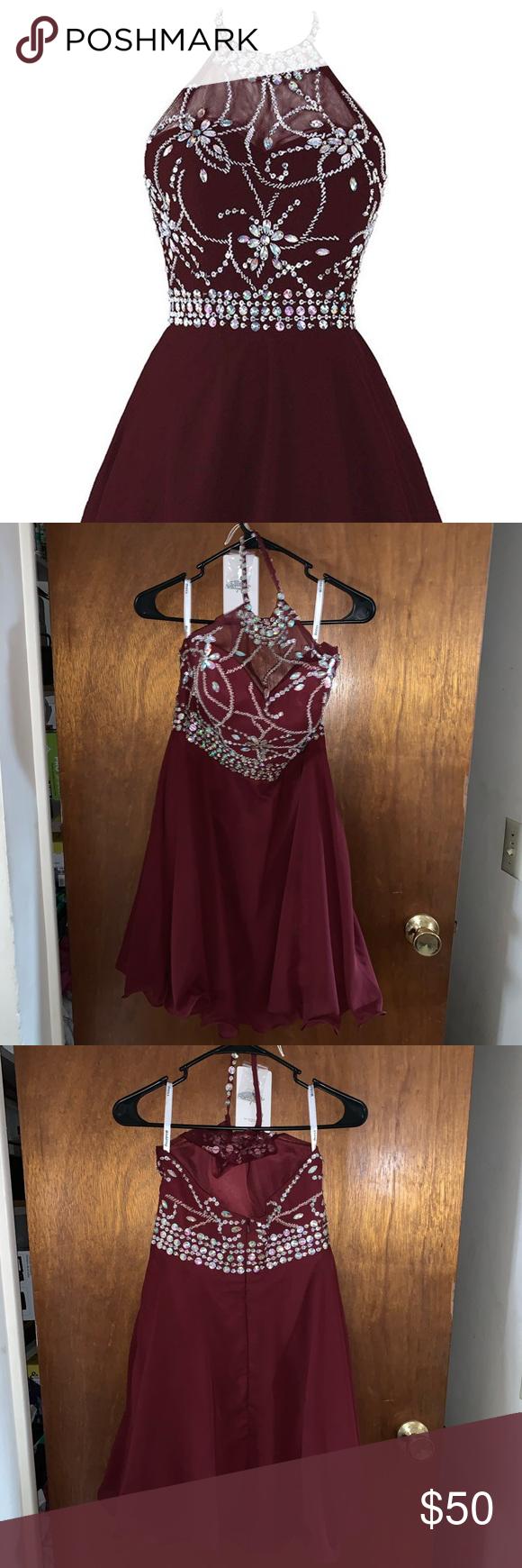 Prom Semi Formal Dress Wine Colored Dresses Dresses Formal Dresses [ 1740 x 580 Pixel ]