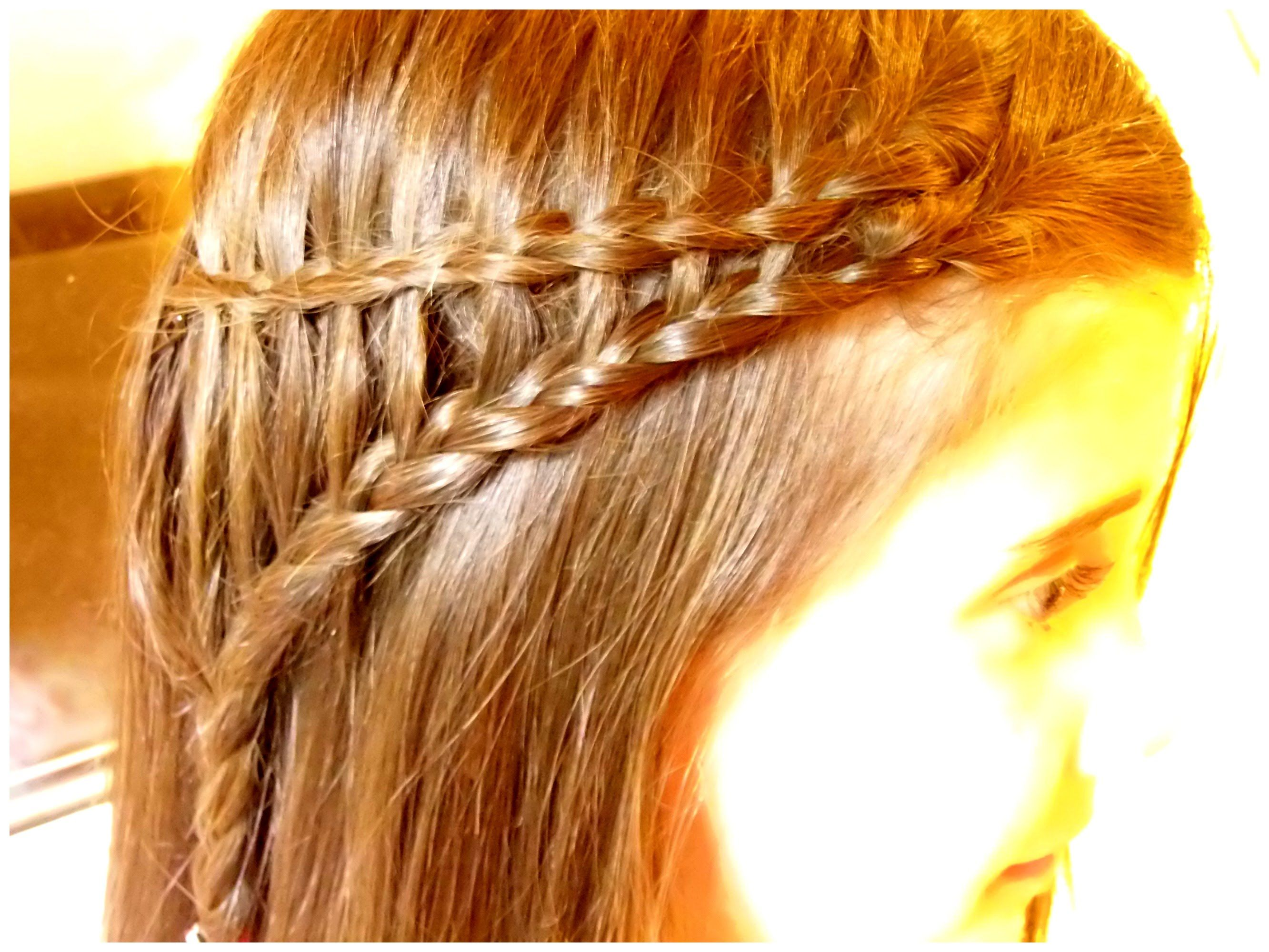 Back To School Hairstyles For Medium Hair - Easy Waterfall Braid ...