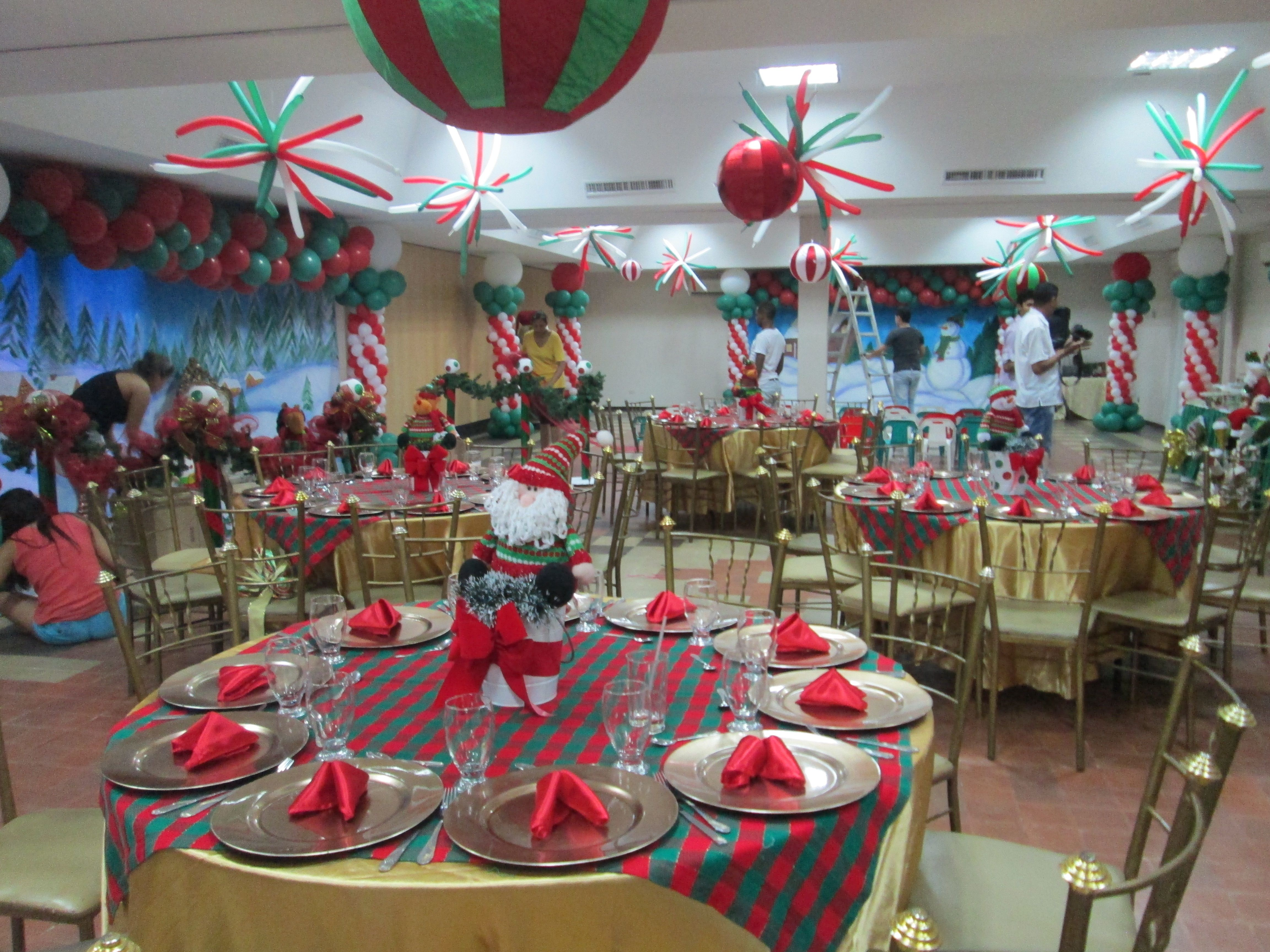Cumplea os motivo navidad d decoracion de cumplea os 3 - Decoracion navidena artesanal ...