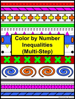 Inequalities Multi Step Color By Number Aztec Distance Learning Free Math Lessons Math Classroom High School Math