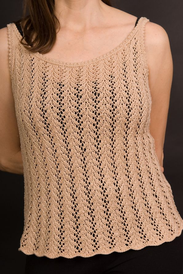 Knitting Pattern for 4 Row Repeat Victoria Tank - Camisole ...