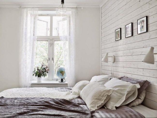 Wandpaneele aus Holz weiß lasieren – 35 Ideen fürs Landhaus ...