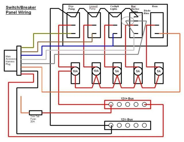 f6474014212d6fdfc1a7464ec5e74ad5 switch breaker panel wiring diagram electrical & electronics boat switch wiring diagram at panicattacktreatment.co