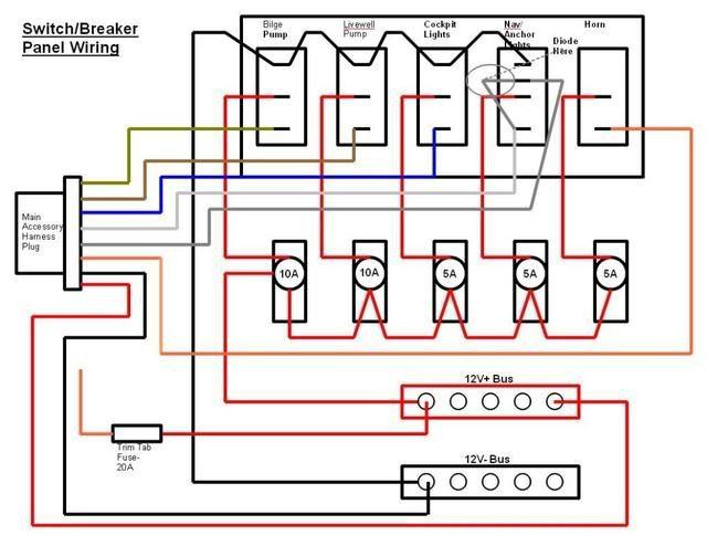switch/breaker panel wiring diagram  electrical circuit