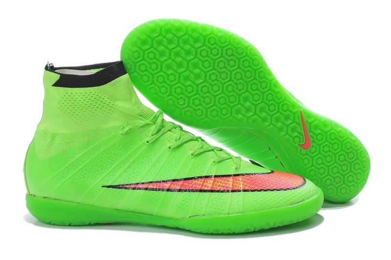 b7ca92baf2a13 Nike Elastico Superfly IC 2017 Soccer Boots Green Orange