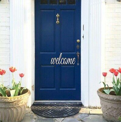 Hello Door Vinyl Decal Sticker Front Door Decal Decor Welcome Home Art   | eBay