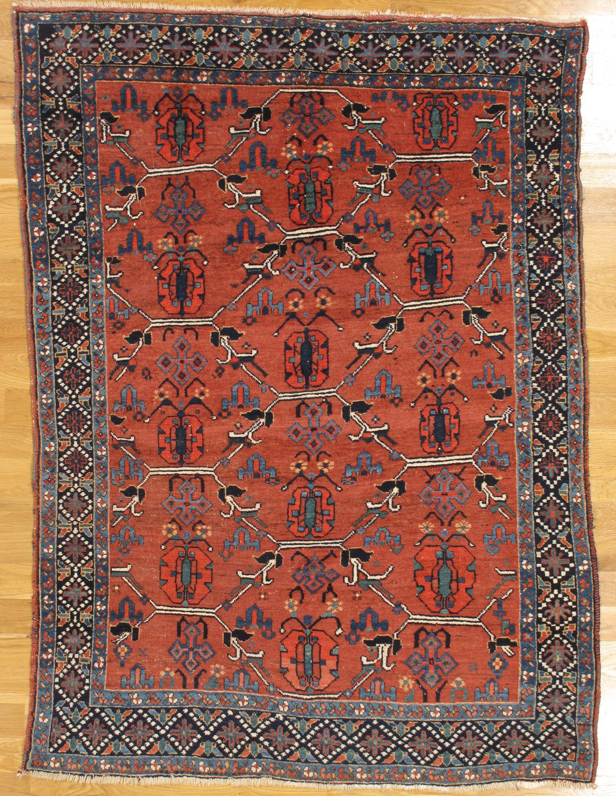 Afshar Rug From South East Iran Age Circa 1890 Size 6