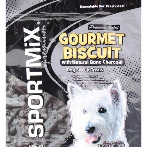 Sportmix Gourmet Biscuit With Natural Bone Charcoal Dog Biscuit
