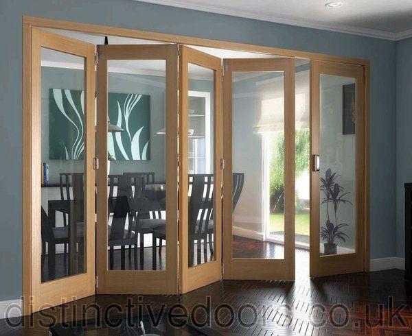 Shaker 1 Light Clear Glazed 4+1 Internal Oak Roomfold Room Divider