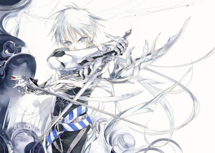 Anime White Hair Swordsman Anime Art Anime Graphic Illustration