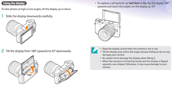 Samsung NX300m camera manual leaked online