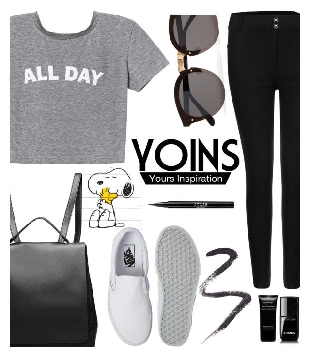 """""""YOINS #3"""" by buflie ❤ liked on Polyvore featuring Marmont Hill, Illesteva, Vans, Chanel, Givenchy, Topshop, Stila, yoins, yoinscollection and loveyoins"""