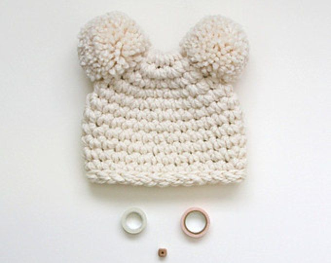 This unique knit hat is would be such a cute alternative to ...