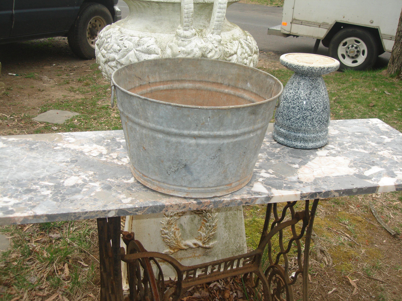 Sale Antique Vintage Large Zinc Tub Wash Tub Galvanized Ice Cooler Galvanized Tub Bucket Pail Bottle Cooler Dog Bath Tub Galvanized Tub Tubs For Sale