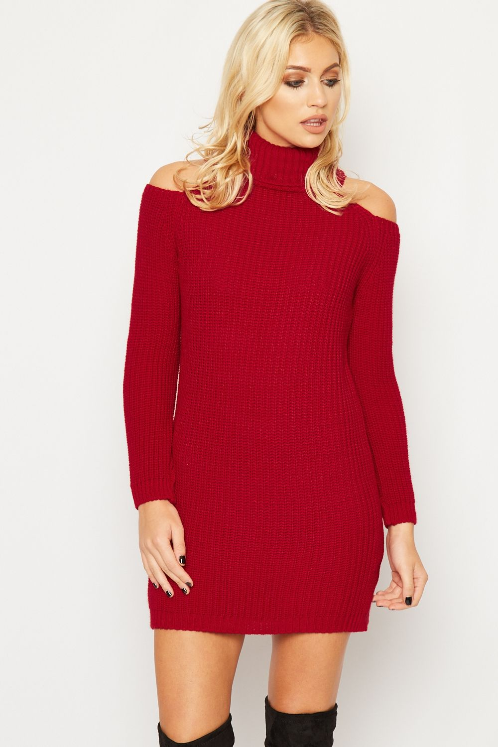Fashion jumper dress cable knit jumper and knit jumpers