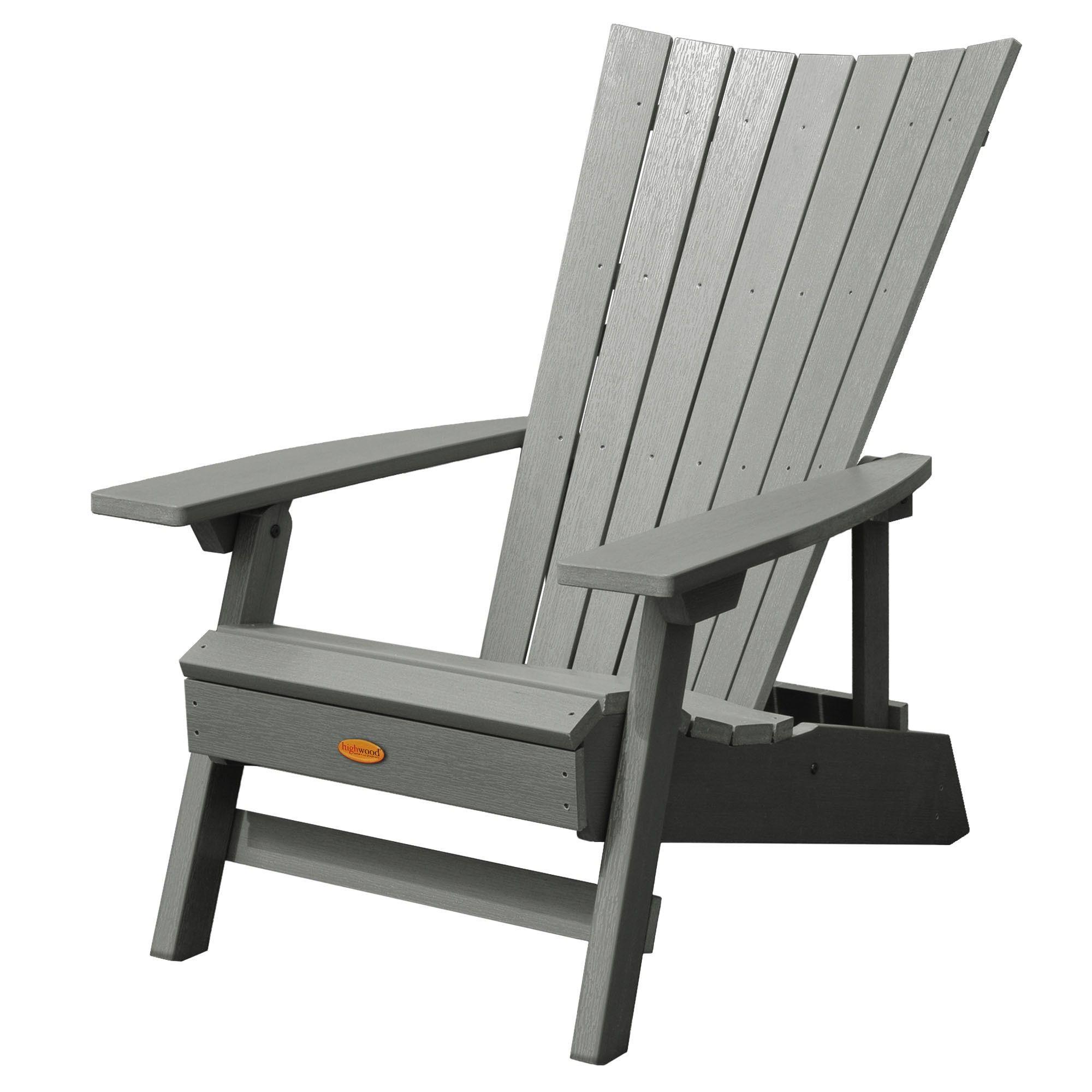 Manhattan Beach Adirondack Chair Coastal Teak Gray