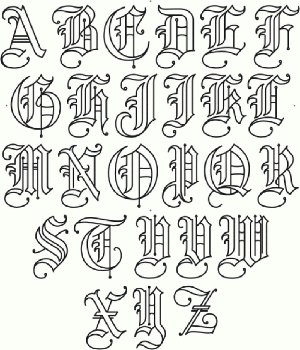 Gangsta Graffiti Alphabet