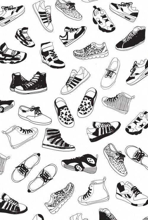 Shoes Wallpaper And Background Afbeelding Shoes Wallpaper Shoes Clipart Hand Painted Shoes