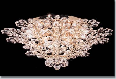 Florale Crystal Flush Mount