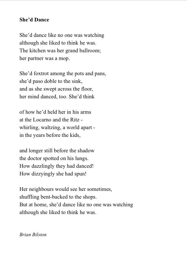 Brian Bilston On Twitter Dance Like No One Is Watching Call Her Poems