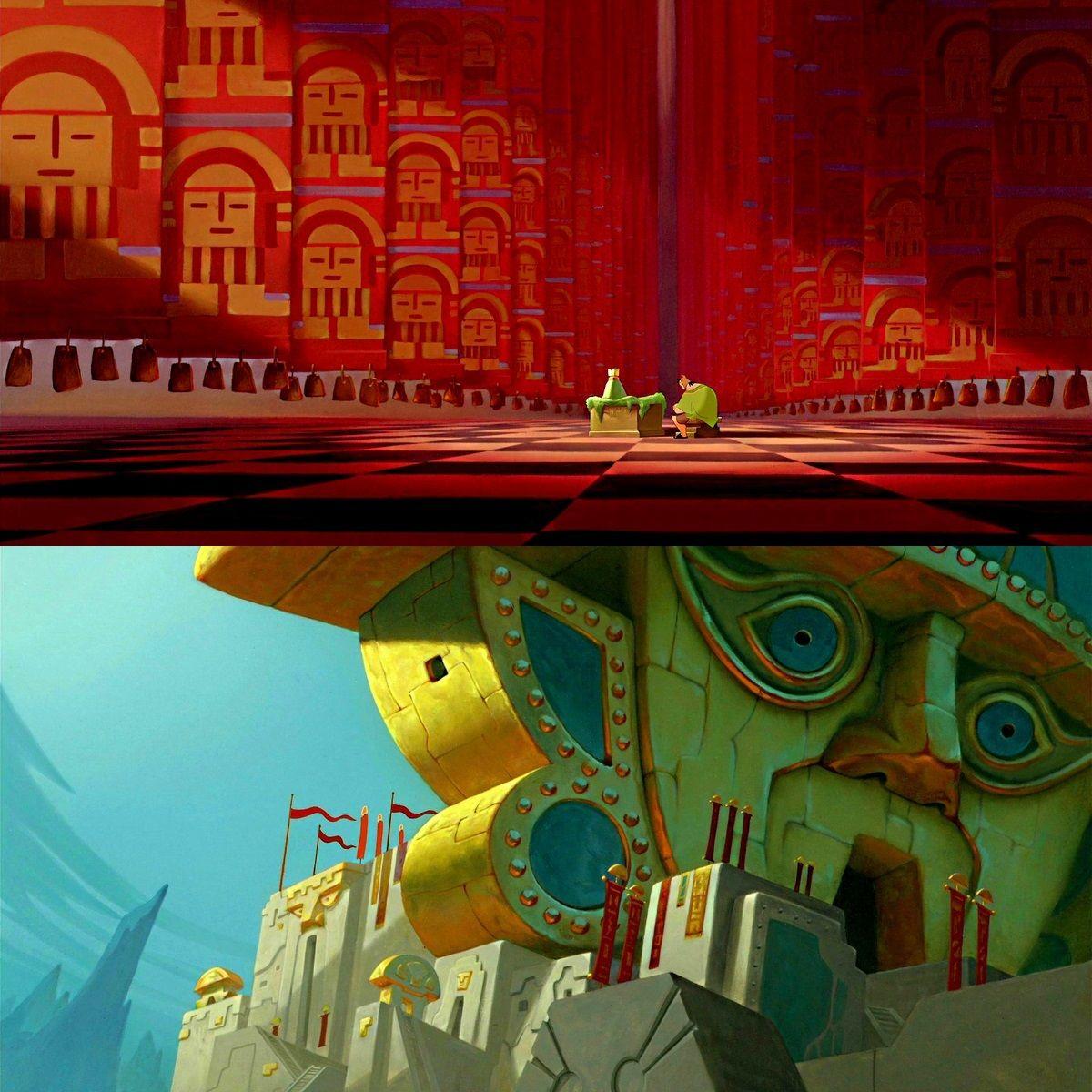 The emperor 39 s new groove composition perspective civilisation et maya - Kuzco dessin anime ...