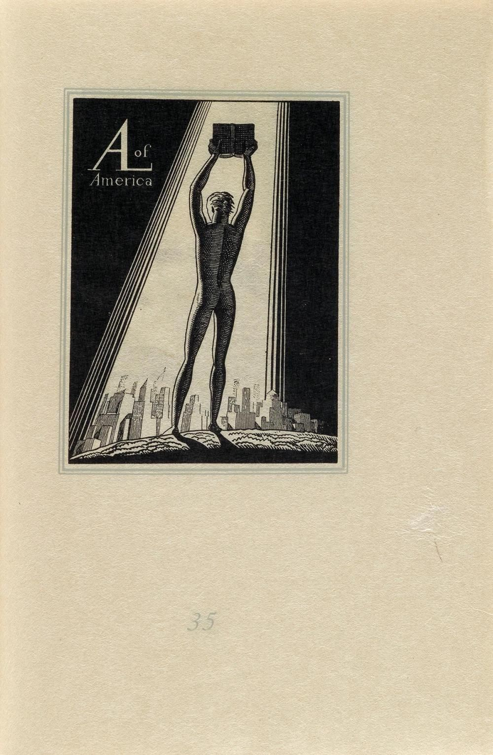 Rockwell Kent, Christmas Angel, Wood Engraving, 1926 4 1