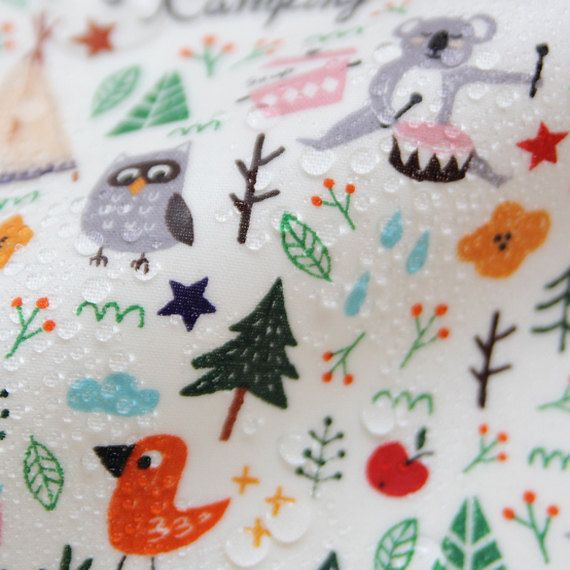 Laminated Cotton Fabric Happy Sewing Waterproof Fabrickorea Baby Bib Picnic Mat Tablecloth Raincoat By Th Laminated Cotton Fabric Sewing Projects Cotton Fabric