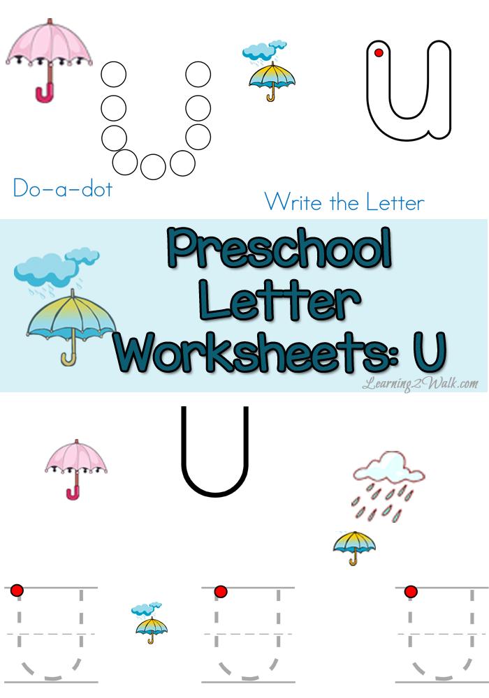 free letter u preschool worksheets learning 2 walk alphabet letters pinterest preschool. Black Bedroom Furniture Sets. Home Design Ideas