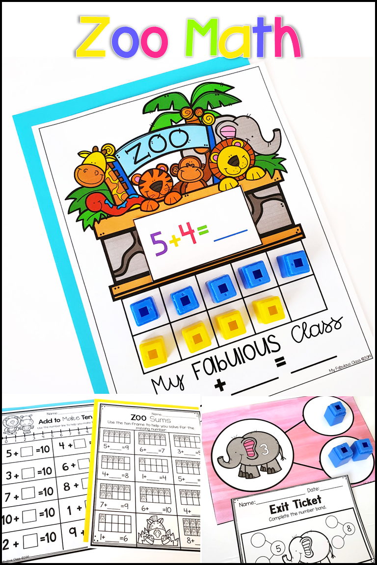 Zoo Math Centers Worksheets And Exit Tickets Math Centers Numbers Kindergarten Math [ 1152 x 768 Pixel ]