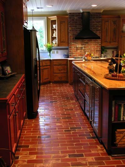 Chicago Brick Pavers In Kitchen Floors Pictures | Antique Brick Floor Tile  Photo Gallery